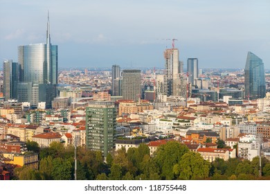View on Milan in the early evening.
