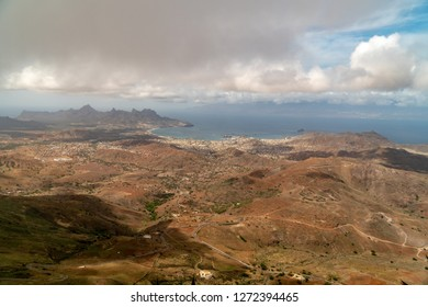 View on Mindelo from Monte Verde on Sao Vicente island, Cape Verde