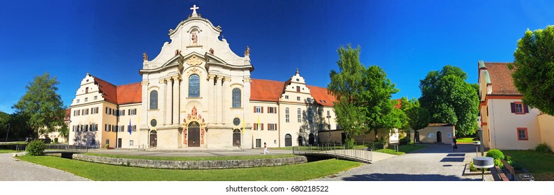 View on the monastery of Zwiefalten, Germany - Panoramic photo