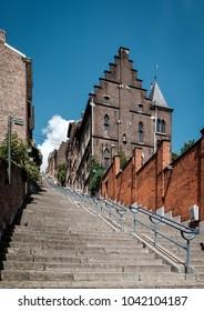 View on Montagne de Beuren steps in the City of Liège in Belgium.