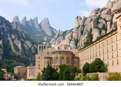 View on Montserrat monastery in Spain