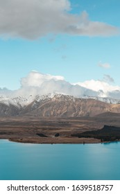 View on mount Dobson and lake Tekapo from Mount John Observatory