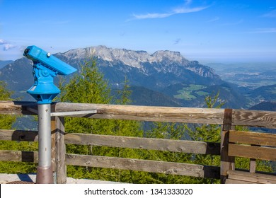 View on the mountain Obersalzberg in the Bavarian alps