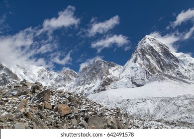 View on the mountain Pumori in Everest region - Himalayas, Nepal