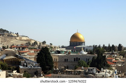 View on Muslim quarter of Jerusalem from the wall
