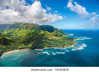 View on Napali Coast on Kauai island on Hawaii, USA