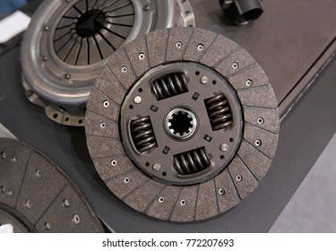 View on new clean car truck clutch component part detail. Car clutch disc disk parts details components for maintenance repair Car clutch disc spare parts. Truck clutch disc Car parts component detail