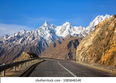 View on the new silk road National Highway 35 or China-Pakistan Friendship Highway.