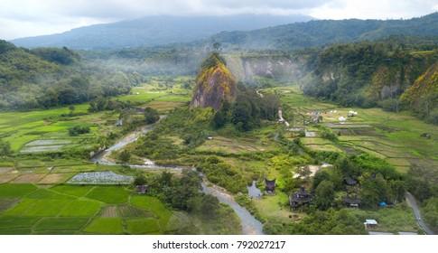 View on Ngarai Sianok Canyon,North Sumatra,Indonesia