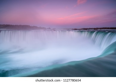 View on niagara falls during sunset