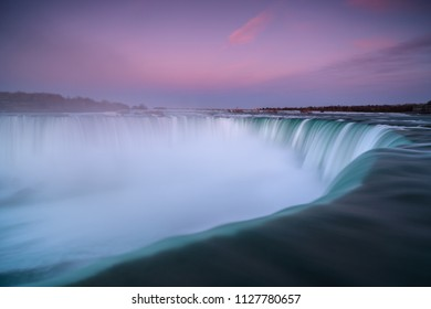 View on niagara falls at sunrise