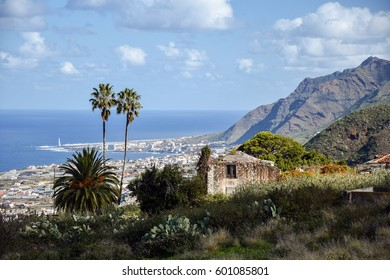View on the north coast of Tenerife, Bajamr, Punta del Hidalgo, Canary Islands, Spain.