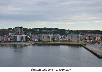 A view on the Norwegian harbour of Larvik