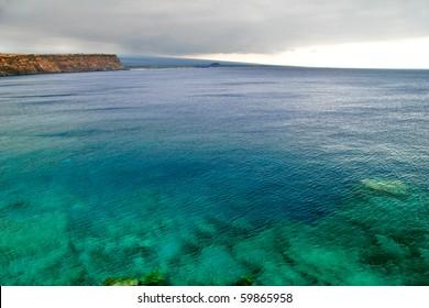 View on the ocean on Big island. Hawaii. USA