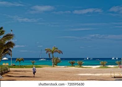 View on the ocean, island Sal, Cape Verde