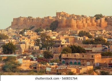 View on the old centre of Jaisalmer in Rajasthan, India