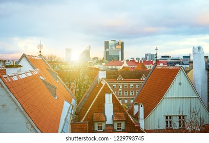 View on the old city. Estonia, Tallinn.