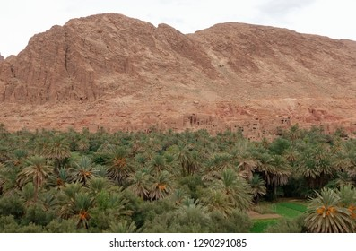 View on the old part of Tinghir town in Atlas mountains, Morocco