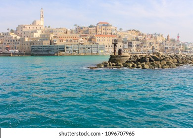 View on Old Yaffa from Mediterranean Sea, Israel