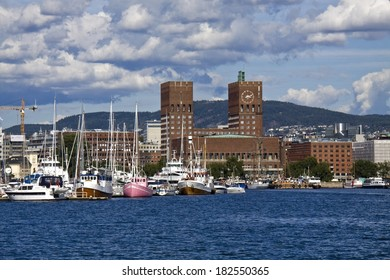 View on Oslo and the harbor, Norway