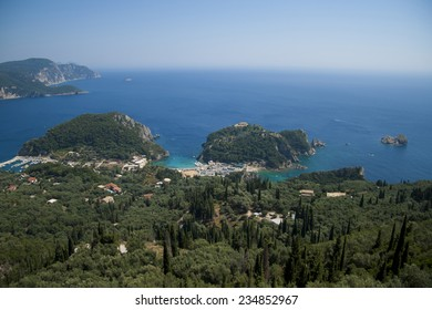 View on Paleokastritsa, Corfu, Greece