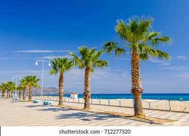 View on pam promenade by beach in Soverato (Calabria - Italy)