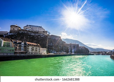 View on Panorama River Inn and Castle Kufstein Austria