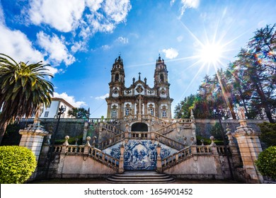View on Panorama of Sanctuary of Our Lady of Remedios in Lamego