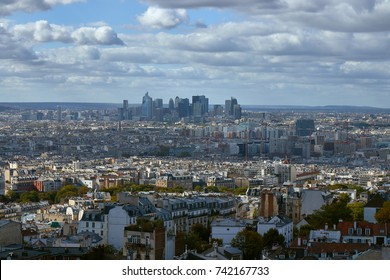 View on Paris from the Basilica of the Sacred Heart of Paris.