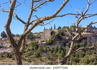 View on a part of the small French village Gordes in Provence, near the mountain Luberon.