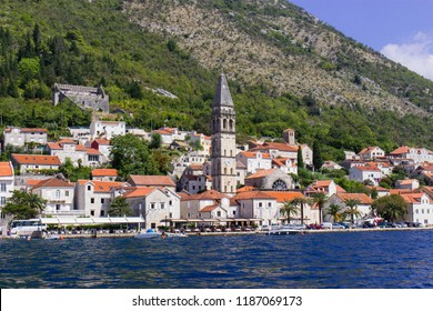 View on Perast and bay of Kotor