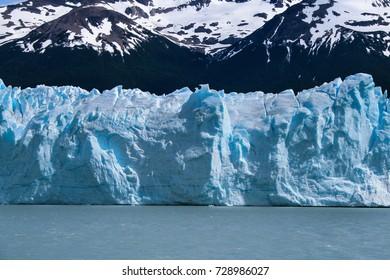 View on the Perito Moreno Glacier and surroundings in Los Glaciares National Park in Argentina