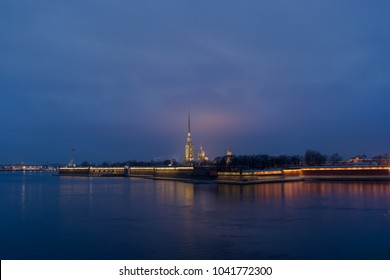 View on Peter and Paul church on Sankt-Peterburg.