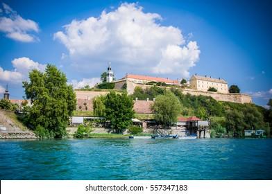 View on Petrovaradin fortress over Danube river, Novi Sad, Serbia - Shutterstock ID 557347183
