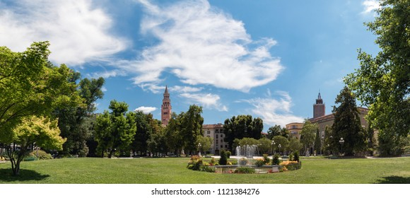 View on Piazza Roma. Cremona - Italy (high definition panoramic view)