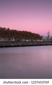 View on pier a park hoboken and midtown Manhattan