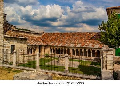 View on the pieve of San Giorgio in Valpolicella in the province of Verona, Veneto - Italy
