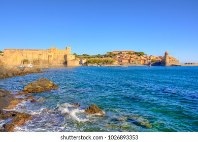 View on the port of Collioure in France