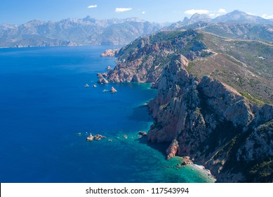 View on Porto bay from Capo Rosso, Corsica