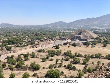 View on the Pyramid of the Moon - one of the Aztec pyramids in Teotihuacan, Mexico.