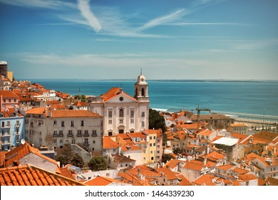 View on the roofs of Lisbon