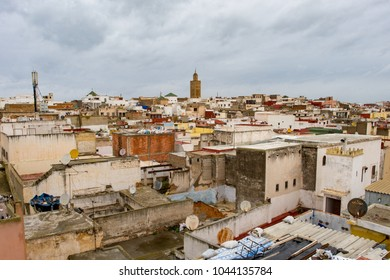 View on the roofs of  medina in Sale, Morocco