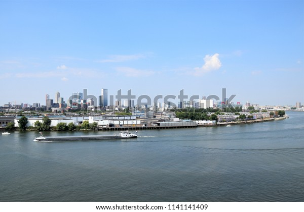 View On Rotterdam River Maas Transport Stock Photo (Edit Now