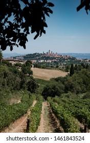 View on San Gimignano in Tuscany, Italy