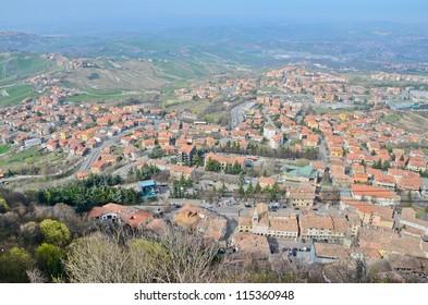 view on San-Marino Republic (Italy)