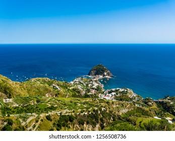 View on Sant'Angelo, Forio, Ischia island, Naples, Gulf of Naples, Campania, Italy