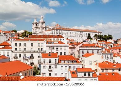 Aussicht auf das Kloster Sao Vicente De Fora. Lissabon, Portugal.