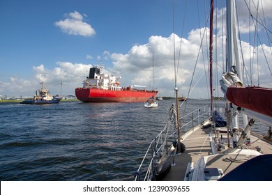 a view on a ship from a sailboat