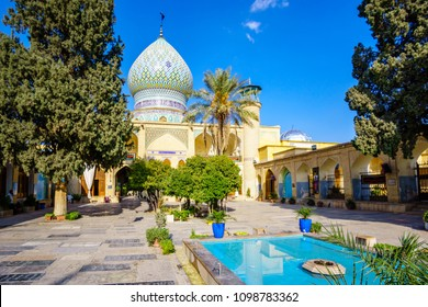 View on Shrine and buildings in Shiraz, Iran