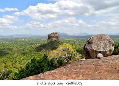 View on the Sigiriya rock from Pidurangala Rock